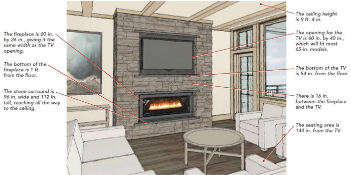 best practices of installing a wall mounted electric fireplace